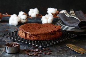 עוגת שוקולד פאדג'ית בלי טיפת קמח