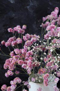 פרחים סגולים עוגת רושם עם מעט פחמימות והרבה אוכמניות