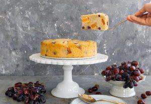 עוגת פירות טבעונית